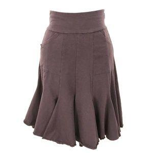 Modcloth Effie's Heart Seven Year Skirt burgundy